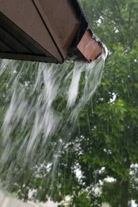 Overflowing Rain Gutters