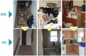 Hoarding Before and After shot