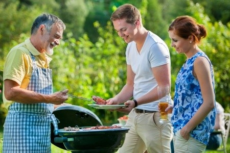 Grilling out safely in the summer.